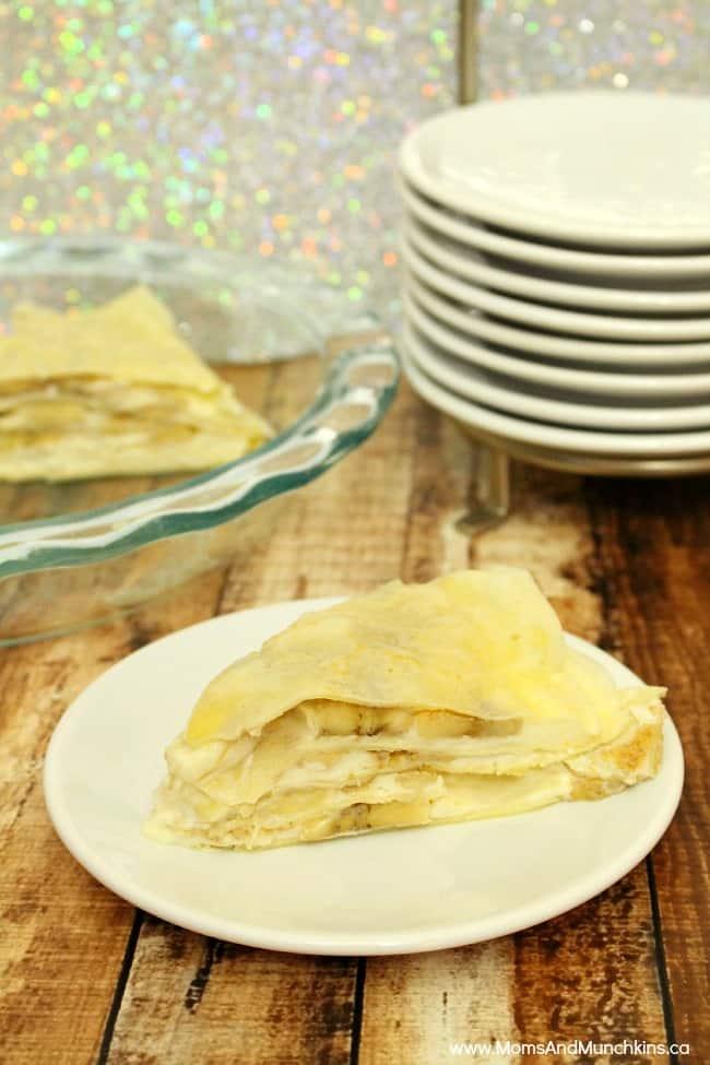 Banana Cream Crepe Pie