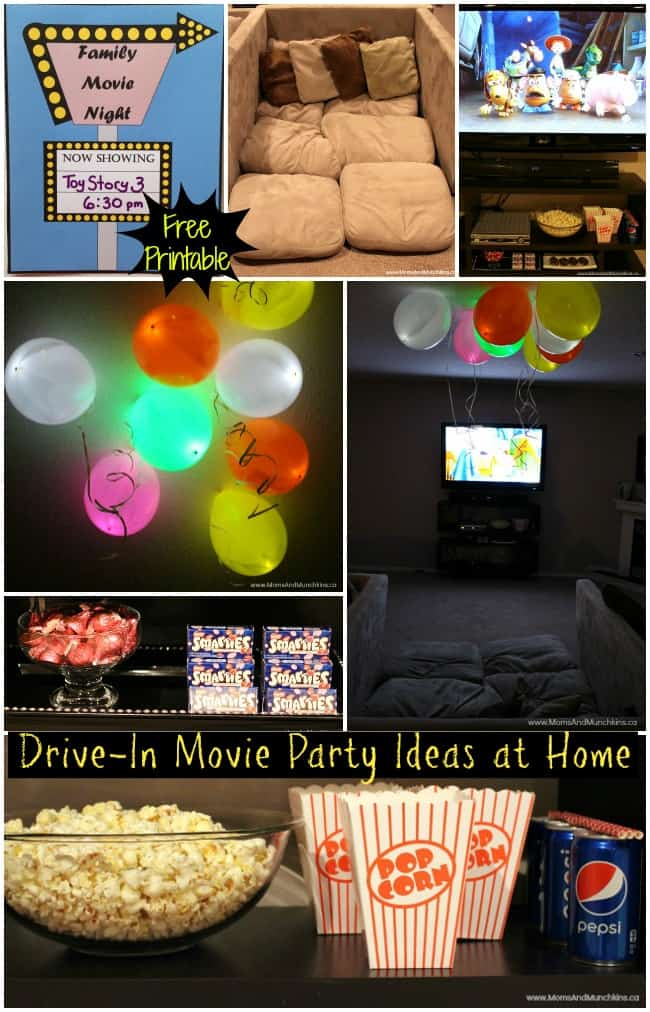 Drive-In Movie Party Ideas - Moms & Munchkins Smarties Canada