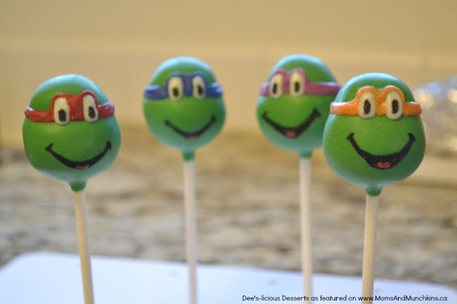 Ninja Turtle Cake Pops Tutorial - Moms & Munchkins