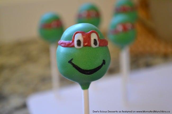 Ninja Turtle Cake Pops