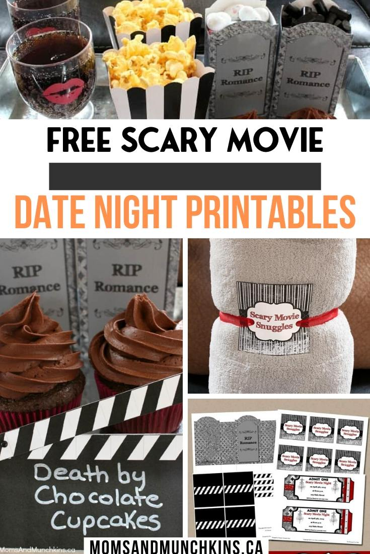 Free Scary movie date night Printables