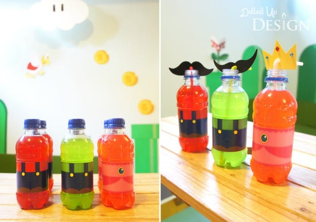Mario Party Drinks with Free Printable