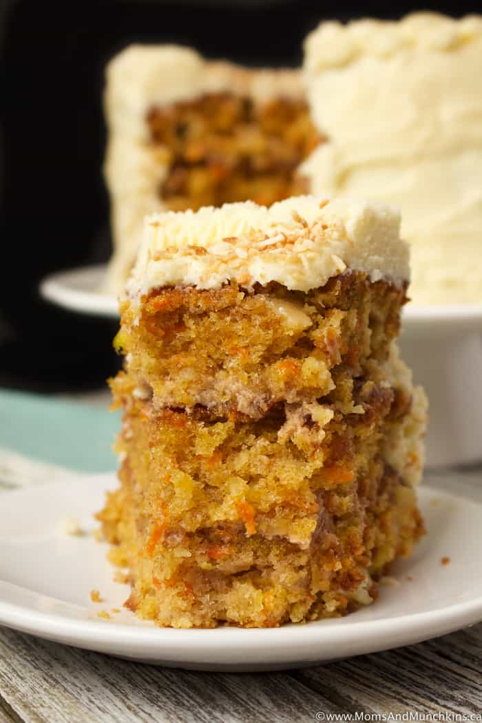 Carrot Cake with Cinnamon Cream Cheese Filling
