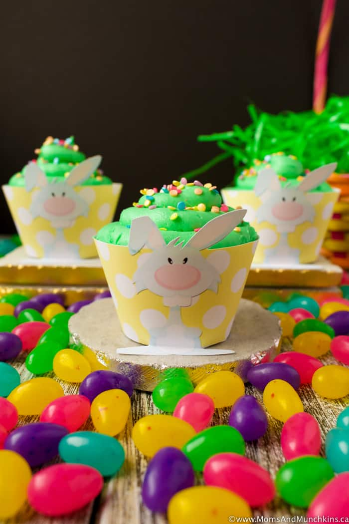 Free Bunny Cupcake Wrappers
