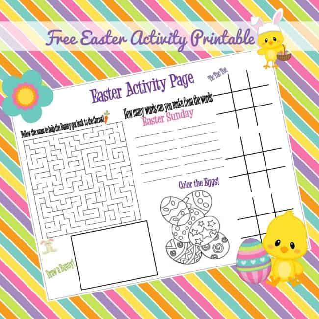 Easter Activity Sheet (Free Printable) - Moms & Munchkins