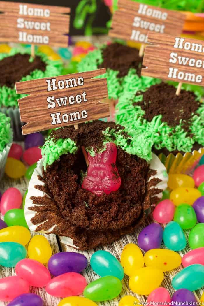 Home Sweet Home Easter Bunny Cupcakes