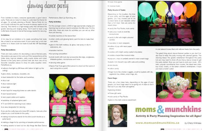 Glowing Dance Party PINK Magazine Saskatchewan