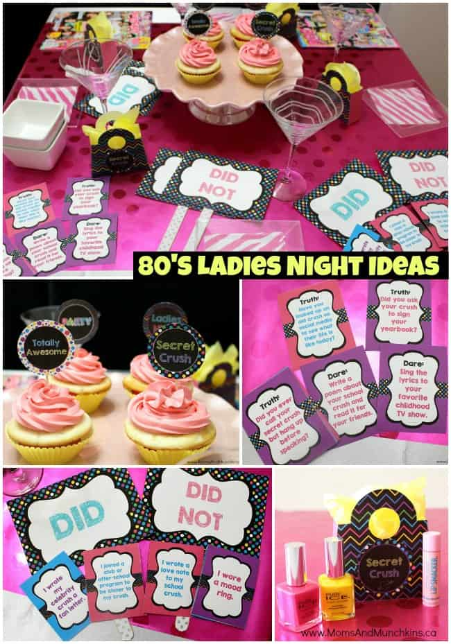 girls craft night ideas 80 s ideas amp printables amp munchkins 4554