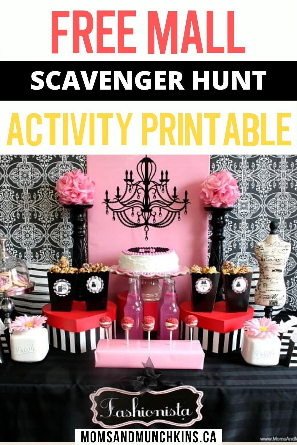 Free scavenger hunt party printables