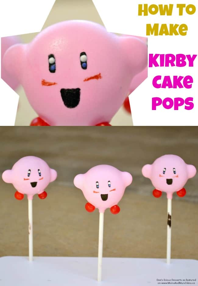 Kirby Cake Pops Tutorial Moms Amp Munchkins