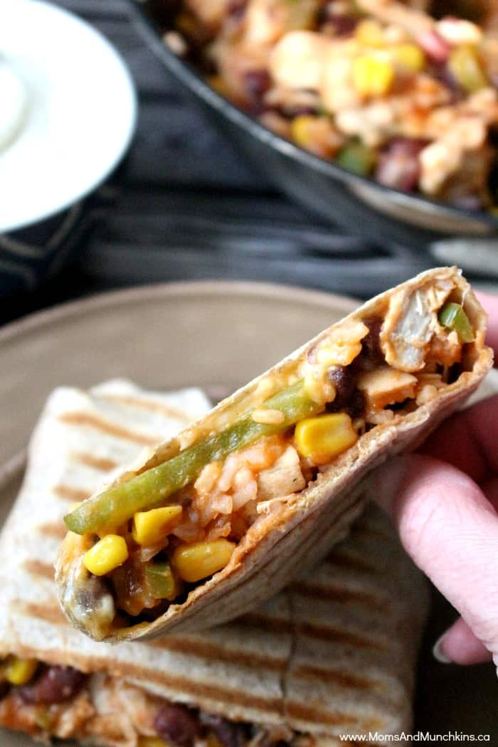 Lime Chicken Burritos