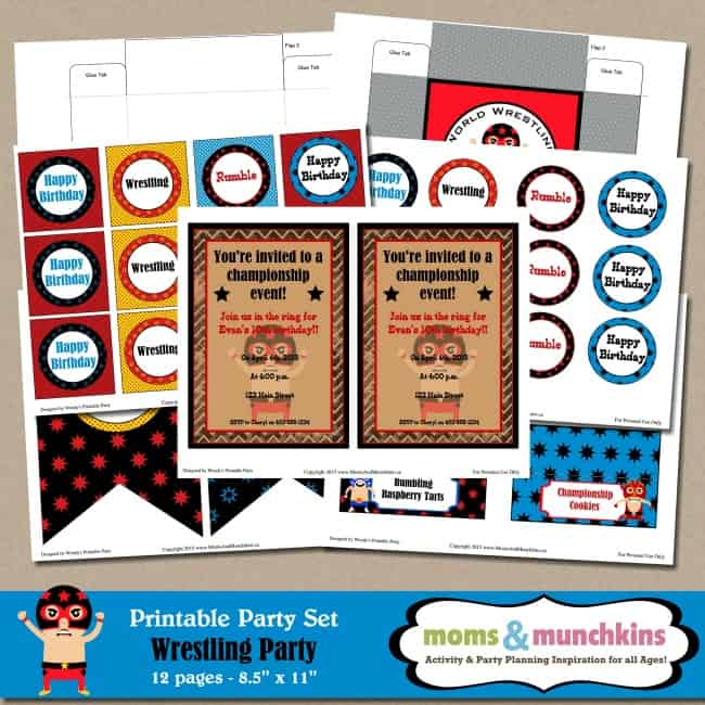 WWE Birthday Party Ideas for Kids Moms Munchkins – Wwe Party Invitations