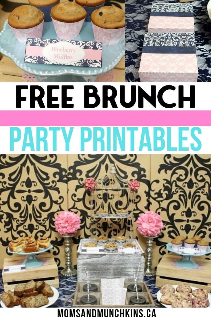 Free brunch party favor Printables