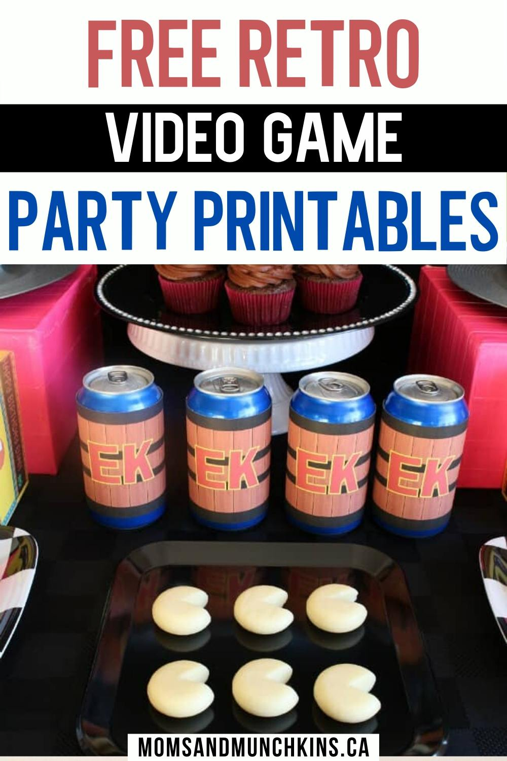 video game party Printables