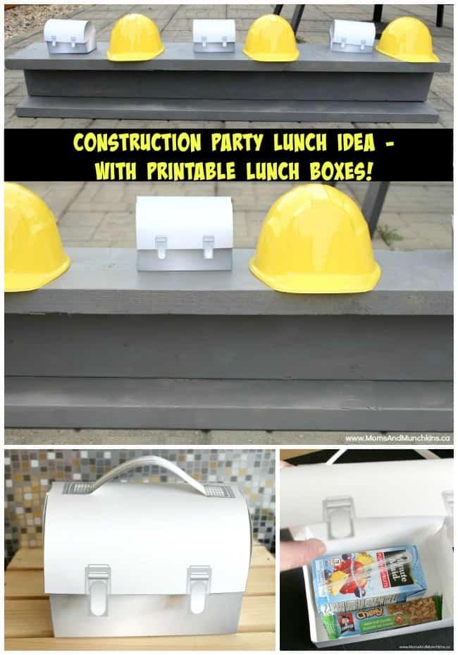 Construction Party Lunch Idea