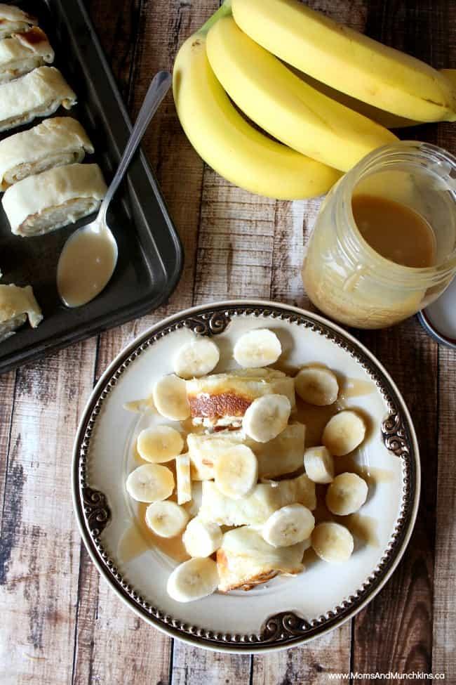 Banana & Caramel Finnish Oven Pancakes