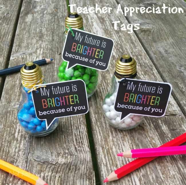 Free Teacher Appreciation Tags