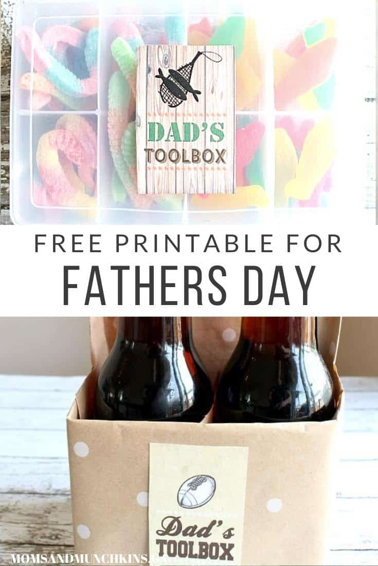 Dad Toolbox Free Printable for Fathers Day