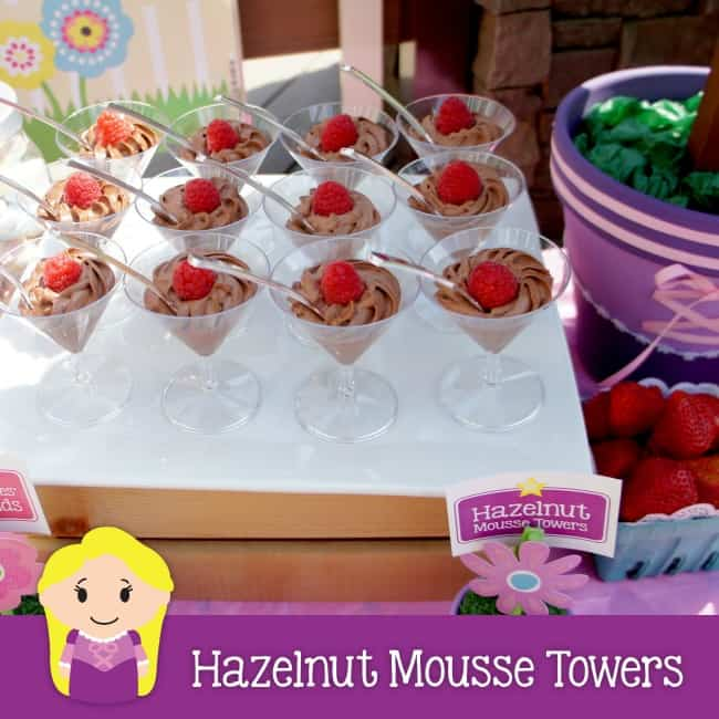 hazelnut mousse towers