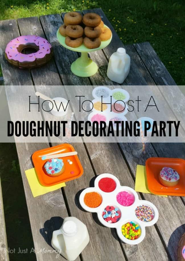 Doughnut Decorating Party Ideas Moms Amp Munchkins