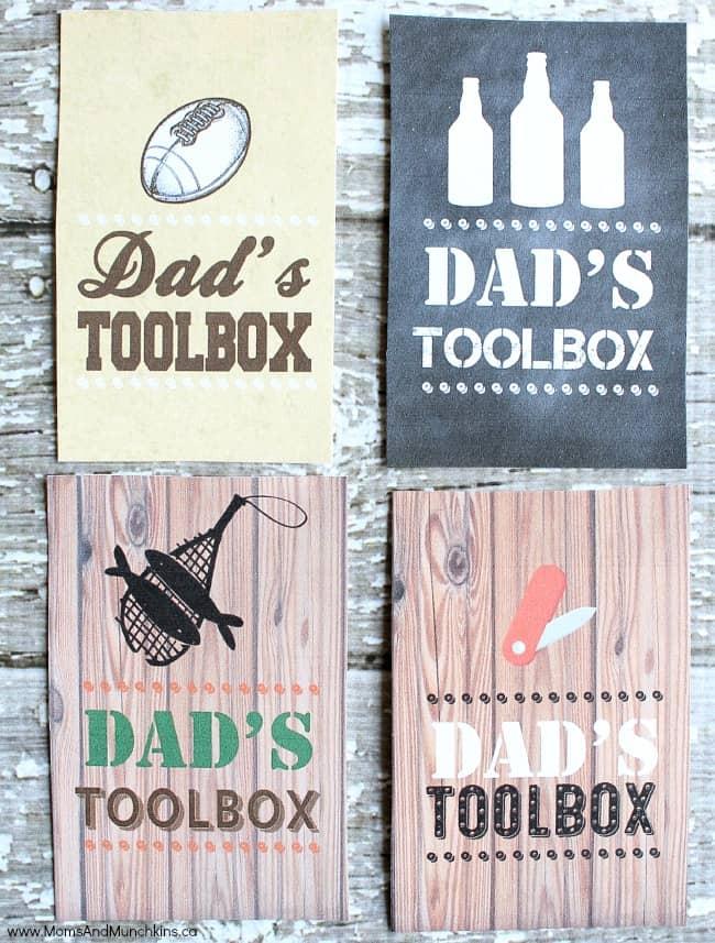 Dad's Toolbox Free Printable