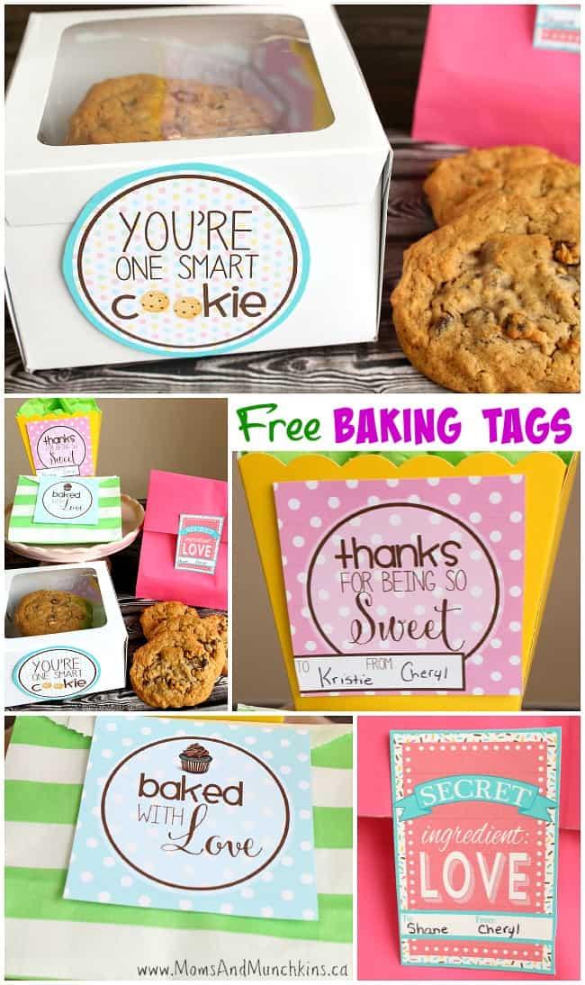 Free Baking Tags