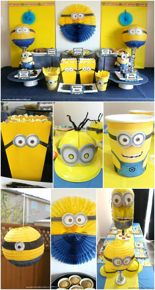 minions birthday party ideas moms munchkins. Black Bedroom Furniture Sets. Home Design Ideas