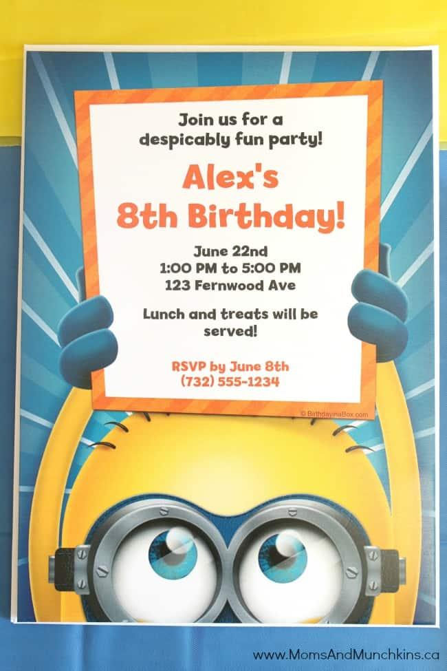 Minions Birthday Party Ideas - Moms & Munchkins