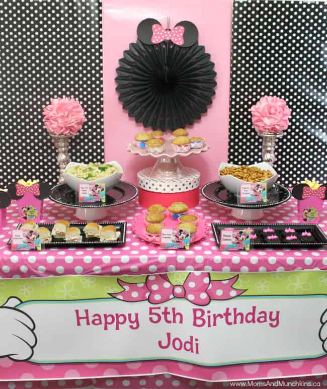 Minnie Party Ideas Moms Munchkins