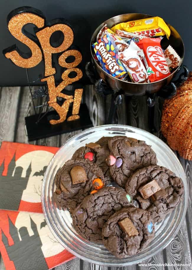 Chocolate Candy Bar Cookies