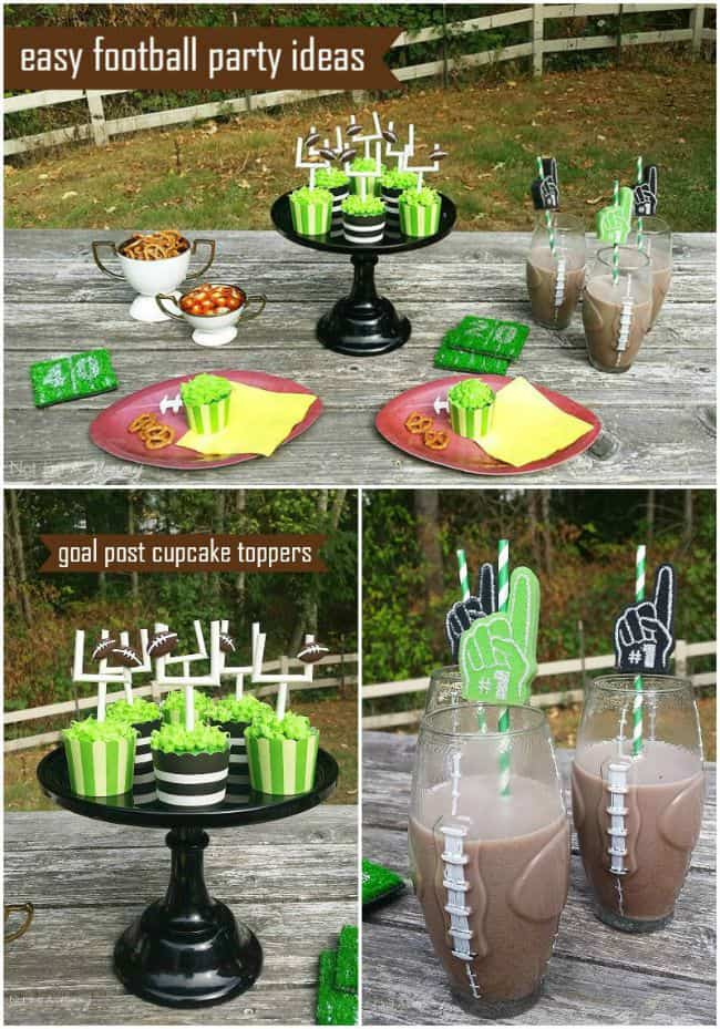 Easy Football Party Ideas Moms Amp Munchkins