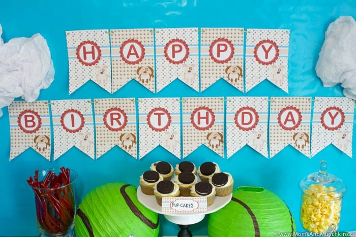 Puppy Birthday Party Free Printable Banner