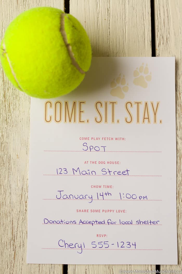 Puppy Dog Party Invitation Free Printable