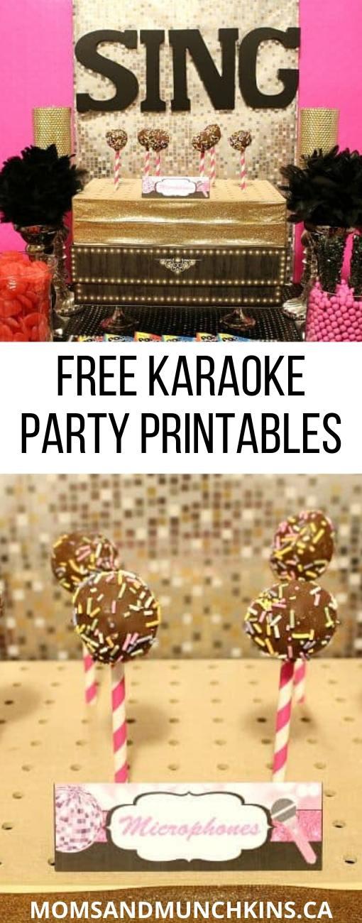 Karaoke Party Printables