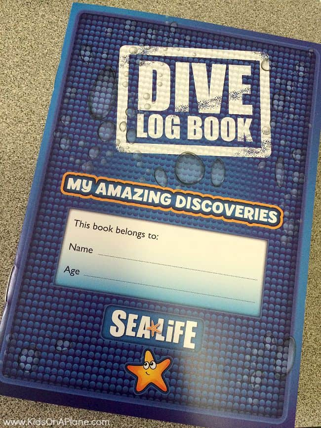 Sea life grapevine aquarium family travel tips - Dive log book ...