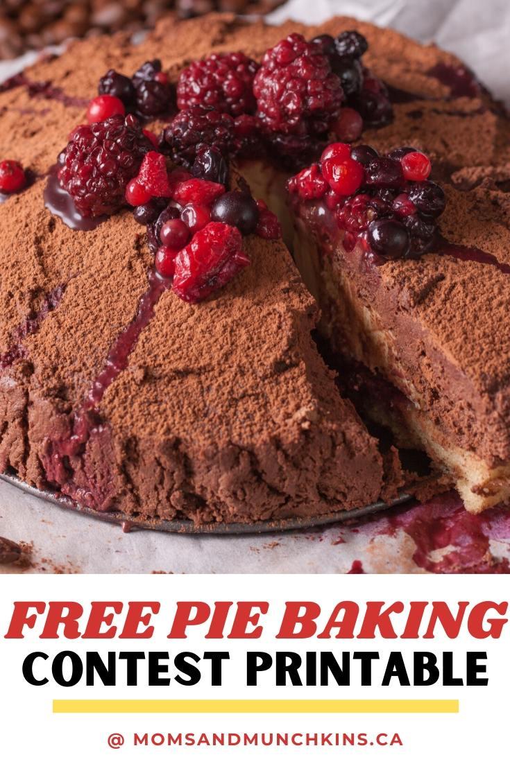 Pie Baking Printable