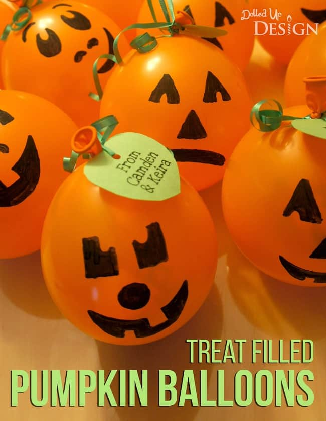 Treat Filled Pumpkin Balloons Moms Amp Munchkins