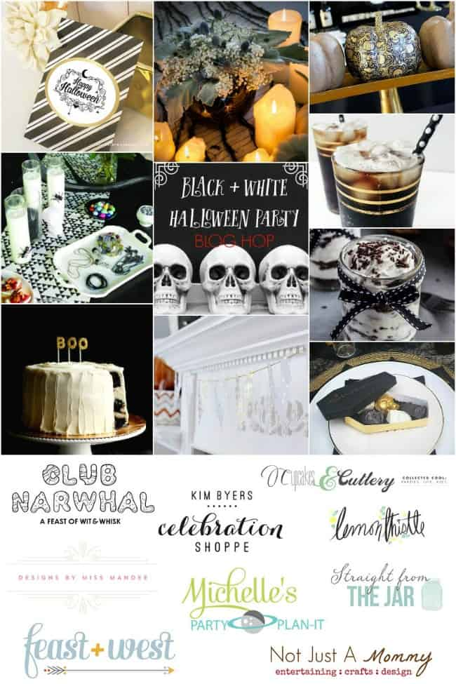 black white gold halloween party ideas - Black And White Halloween Party