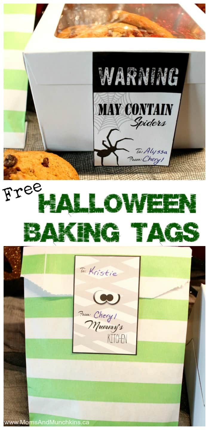 Free Halloween Baking Tags