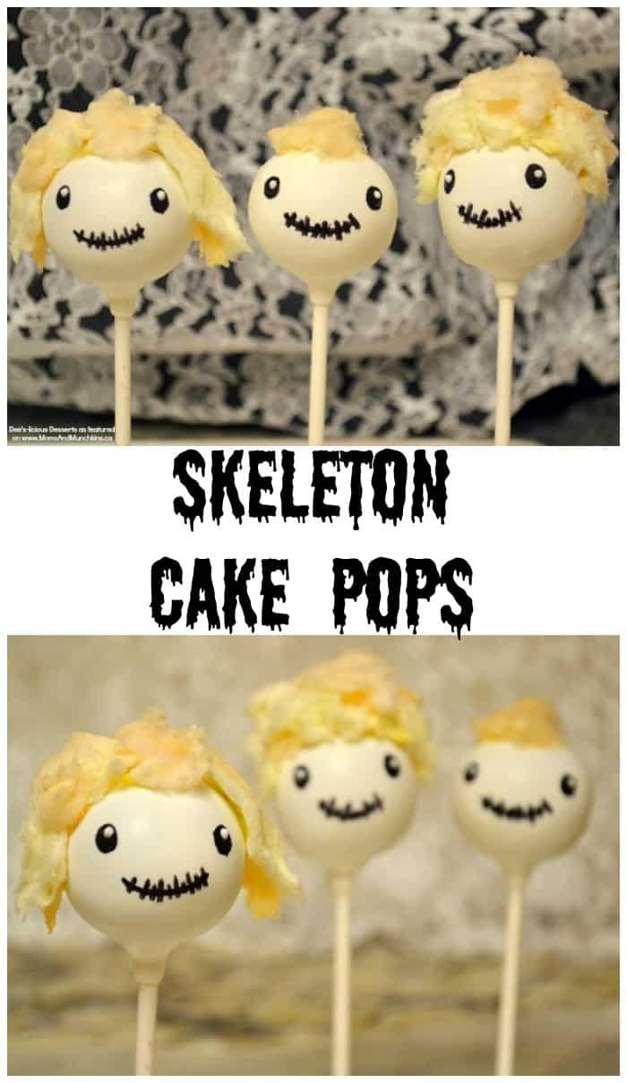 Skeleton Head Cake Pops