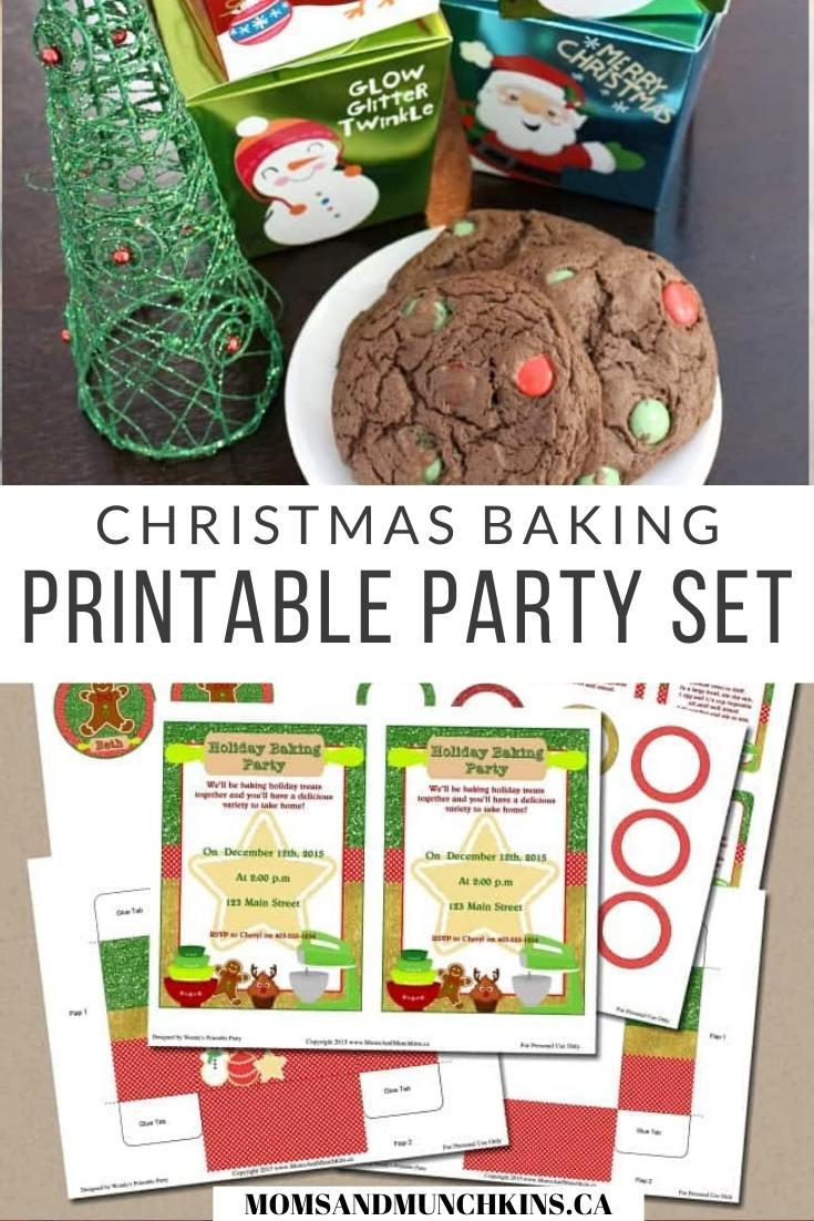 Free Christmas baking party Printables