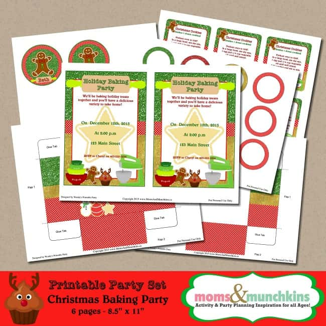 Holiday Baking Party Printables