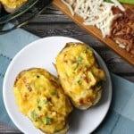 Egg Stuffed Potato Skins