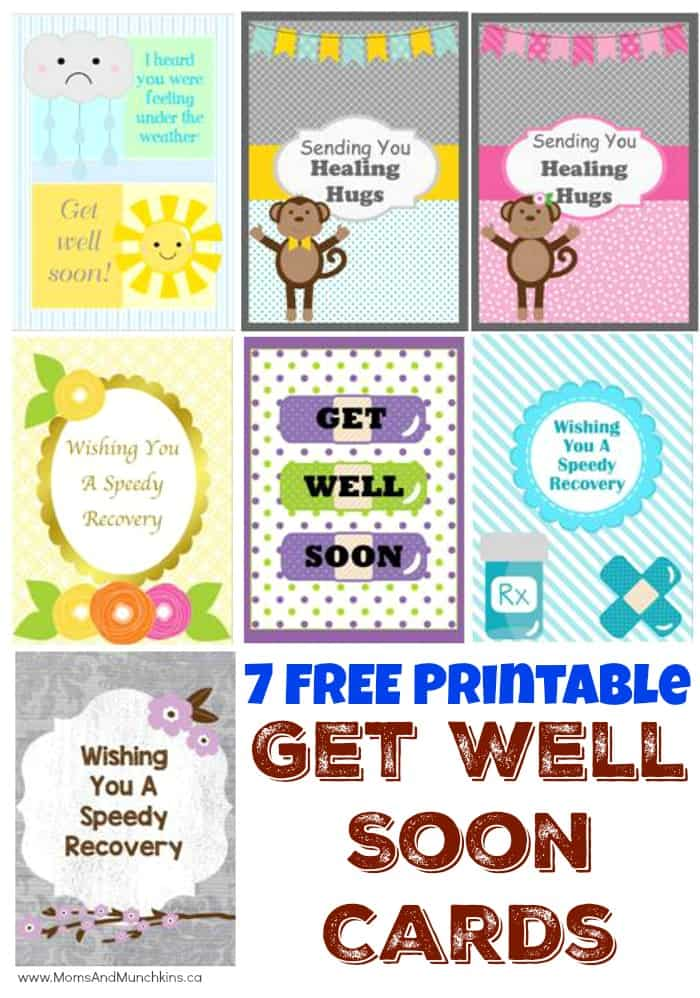 graphic about Get Well Soon Card Printable identified as No cost Printable Choose Effectively Before long Playing cards - Mothers Munchkins