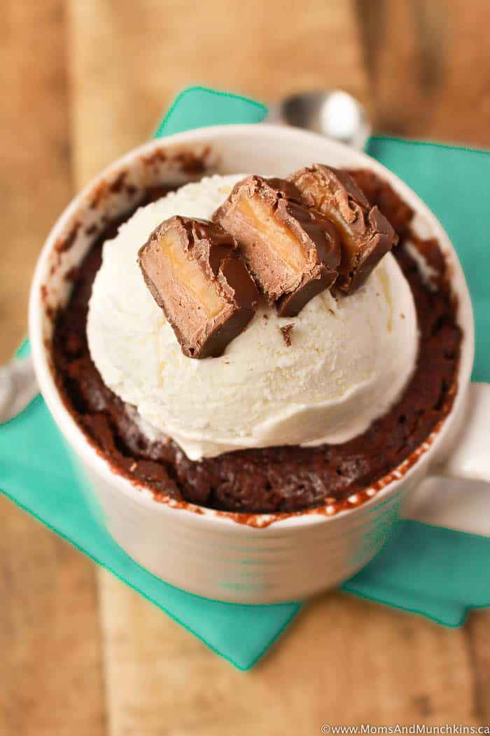Chocolate Caramel Mug Cake Recipe