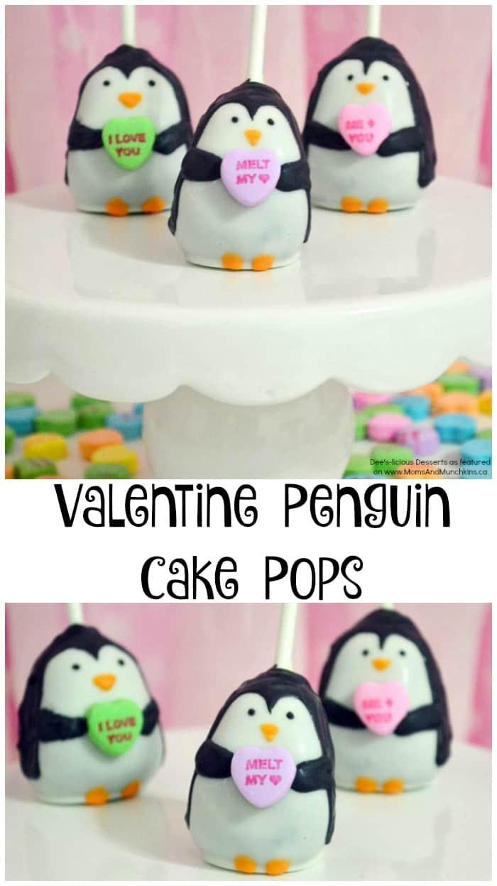 Valentine Penguin Cake Pops