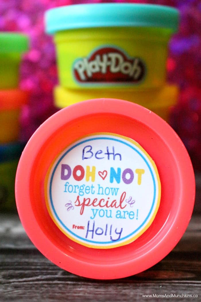 Play-Doh Valentine Tag