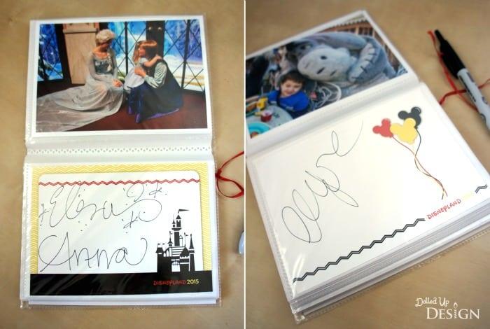 Diy Disney Autograph Books Moms Amp Munchkins