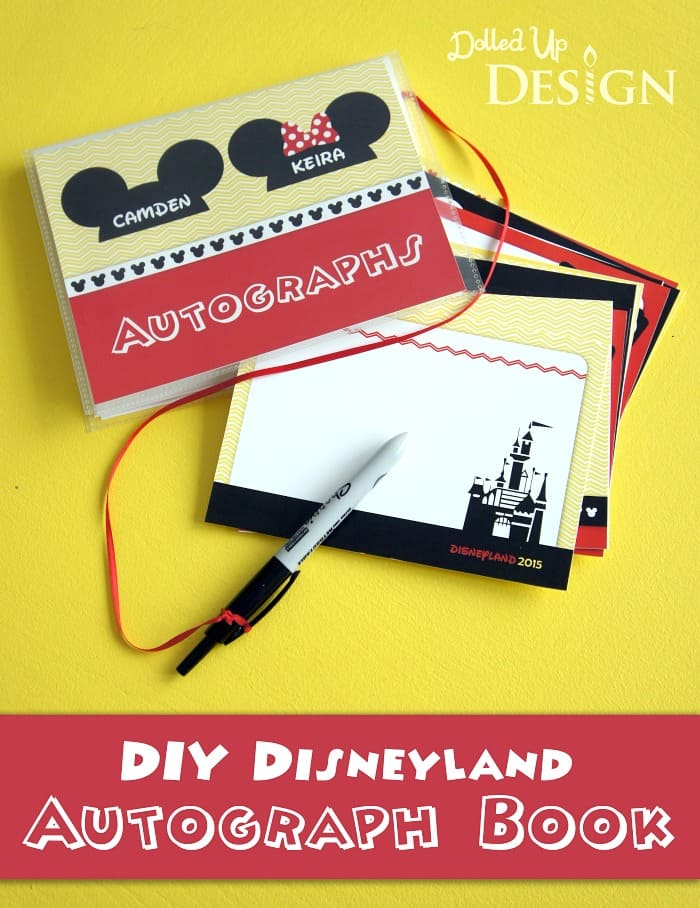 This is an image of Printable Disney Autograph Book with regard to clip art