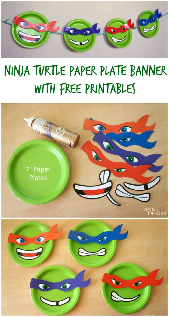 Ninja Turtle Paper Plate Banner With Free Printables